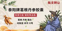 保健食品批文转让—泰阳牌葛根丹参胶囊——辅